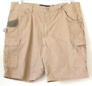 Wrangler Mens Riggs Workwear Ripstop Cargo Shorts Size 42x10.5 Brown