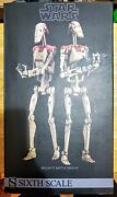 Sideshow 1/6 Scale 12 Inch Star Wars Security Battle Droids Set Rare Hot Toys