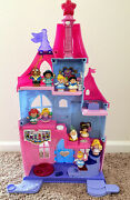 Fisher Price Little People Disney Princess Magical Wand Palace Castle 10 Dolls