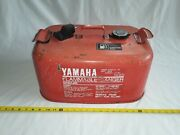 Vintage Yamaha 6.3 Gallon Metal Outboard Boat Gas Fuel Tank Can W/ Lid.