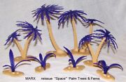 Marx Reissue Set Of Outer Space Palm Trees And Ferns + Reissue Astronits X 18
