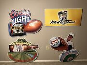 Beer Signs Lot 1990s Budweiser Frog Miller Time Monday Night Football Coors
