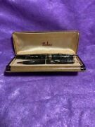 1942 Striped Duofold Senior Deluxe Parker Vacumatic Fountain Pen And Pencil Set
