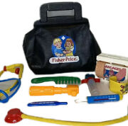 Vintage Fisher Price Toy Doctor Nurse Bag Medical Kit W/tools Accessories 1987