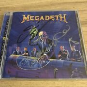 Megadeth Rust In Peace Cd Signed Autographed By Dave Mustaine David Ellefson