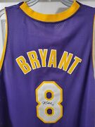 Kobe Bryant Signed Autographed Rare Authentic Gold Reebok Pro Cut Jersey 8
