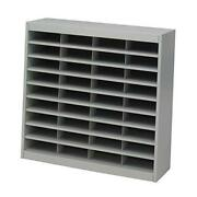 E-z Stor Literature Organizer 36 Compartment 9221grr Powder Coat Finish Gray