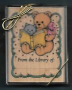 Teddy Bear Kitten Book From Library Of Hero Arts Limited Edition 90 Rubber Stamp