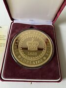 Australia 1852 Adelaide Pound 6.7oz Silver Gold Plated Proof Coin Coa 250 Minted