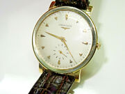 1950s Longines Sherwood 14k Gold Manual Wind Collectible Watch Textured Dial