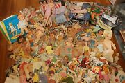 Extremely Huge Lot Antique And Vintage Paper Doll Cut Outs Trolls Baby Mccall