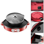 2200w 2 In 1 Electric Smokeless Bbq Grill And Hot Pot 110v 3.6l Split Easy Clean