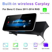 Car Gps Navigation 12.3 Android Stereo For Mercedes Benz C Class 2011-2014 Rhd