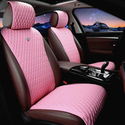 Red Rain Universal Seat Covers For Cars Leather Seat Cover Pink Car Seat Cover