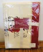 Williams Sonoma Twelve 12 Days Of Christmas Tablecloth 70 X 108 New Sealed