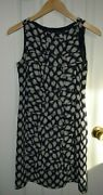 Adrianna Papell Blue And White Dots Ruffle Dress Size 2