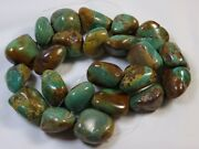 Campitos Cabala Turquoise Nugget Beads 116 Strand 15-22mm 621cts😍greens