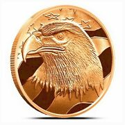 5 American Eagle 1oz .999 Copper Bu Coins Made In Usa Silver Towne Flashy Nice