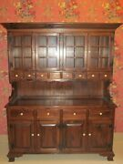 Ethan Allen Antiqued Tavern Pine Glass China Cabinet Country Hutch 12 6019