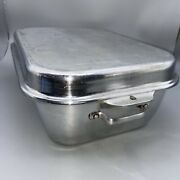 Vintage Wear Ever 2 Pc Aluminum Roaster Pan W/vent 918 And 818 Made In Usa