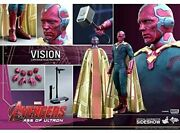 Hot Toys Marvel Mms 296 Vision Avengers Age Of Ultron 1/6 Masterpiece Figure