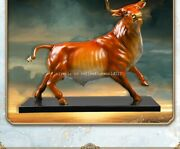 22and039and039 Classical Brass Crafts Home Decorate Statue Auspicious Wealth Bull Ox
