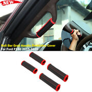 Interior Roll Bar Grab Handle Covers Protective Case For Ford F150 2015+ Leather