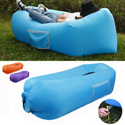 Inflatable Camping Sofa Banana Bag Air Lounge Blow Up Couch Lazy Chair