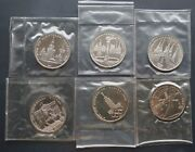 Russian Coins -ussr -1977-1980 Proof-like Coin-set Of 6 Moscow Olympic- Rare