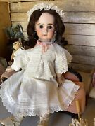 Tandecircte Jumeau Open Mouth Bisque Doll Size 70 Cm 27.5 Inches Perfect Head