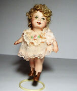 Porcelain Shirley Temple Rani Doll With Stand 5