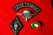French Foreign Legion Grouping - Parachutist Badge And Insignia