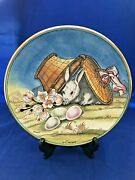 Easter 1973 Veneto Flair Plate V Tiziano Made Italy 1290 Of 2000 Hand Etched