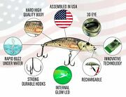 Ufish - Robotic Twitching Lure Electronic Bass Pike Muskie Crank Bait Tackle