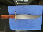 Bear And Son Mgc Cb02d Damascus Bowie 14 Hunting Knife Wood Discontinued New