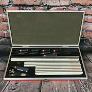Koh-i-noor Rapidograph Lettering Guide With Pens - Incomplete Set