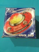 Vintage Flying Saucer Space Ship Battery Operated Super Sonic Sound And Lights