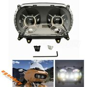 New Motorcycle Dual Led Headlight Projector Headlamp For 2015-2020 Road Glide