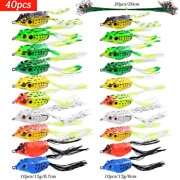Artificial Minnow Crank Bait Silicone Bait Frog Lure Top Water Fishing Lure Bait