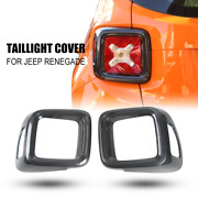 Carbon Fiber Tail Light Cover Guard Rear Lamp Frame Trim For Jeep Renegade 2016+