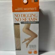 Warnerand039s Seamless Sheer Tight Pantyhose Nude 1 No Muffin Top 2 Pairs Large