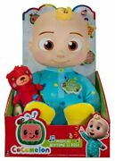 """New Cocomelon 2 Piece Set Musical Bedtime Jj Plush Doll 10"""" And Musical Bus"""