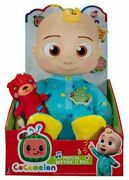 New Cocomelon 2 Piece Set Musical Bedtime Jj Plush Doll 10andrdquo And Musical Bus