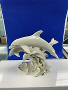 Lenox Fine Porcelain 1995 Between Sea And Sky Figurines With Gold Trim