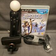 Sony Ps3 Move Bundle-controller, Camera, Sports Champions Game