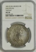 1821zs Rg Mexico 8 Reales Zacatecas And039hispanand039 Au58 Ngc 944041-10