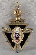 19c Odd Fellows And Knights Of Pythias Fraternal Medal / Pendant / Fob