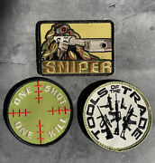 3x Patches Tools Of The Trade Guns + One Shot One Kill + Sniper Hook Back 3.25