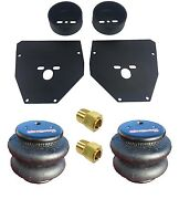 Air Ride Front Bolt On Brackets And 2600 Bags 1/4 Fittings For 1963-72 Chevy C10