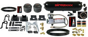 Air Helper Spring Over Load Kit Black Gauge And Tank For 2005-10 Ford F250 2wd